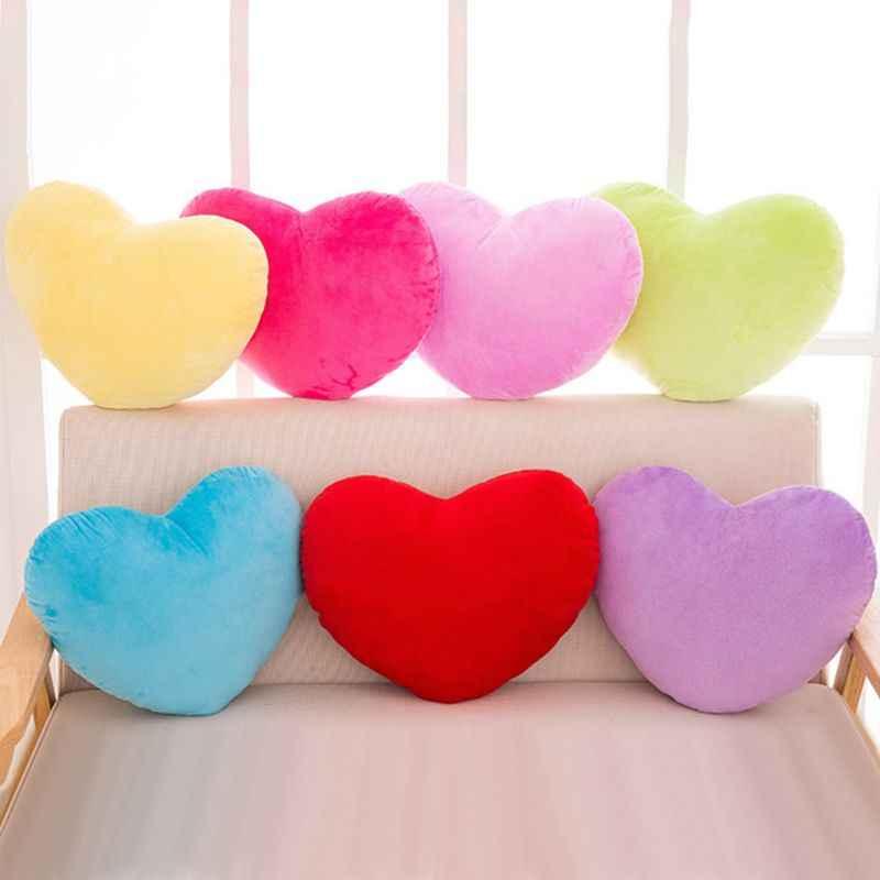 Herz Form Werfen Kissen Kissen Gefüllte Plüsch Puppe Spielzeug Geschenk Sofa Auto Hause Dekorative Kissen Hochzeit Dekoration Kinder Spielzeug