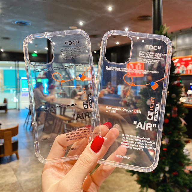 Hot Off Sports shoes brand phone case for iphone 12 mini 11 X XS Max XR 7 8 6 6s Plus SNEAKERS ins white label soft TPU Cover 2