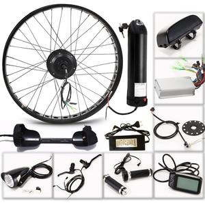 """Image 2 - E rower zestaw do roweru elektrycznego koło silnikowe 36V 350W 26 """"4.0 rower elektryczny 10/13AH zestaw do konwersji ebike do roweru szosowego i górskiego"""