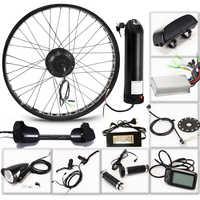 E vélo vélo électrique Kit moteur roue 36V 350W 26 4.0 vélo électrique 10/13AH Kit de Conversion ebike montagne route vélo