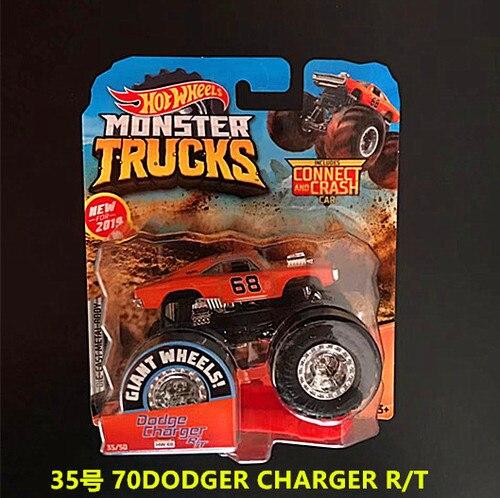 1: 64 оригинальные горячие колеса гигантские колеса Crazy Barbarism Монстр металлическая модель грузовика игрушки Hotwheels большая ножная машина детский подарок на день рождения - Цвет: 35