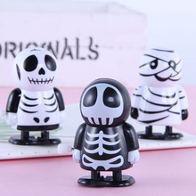 Funny children's clockwork doll toys Halloween gifts Walkable mummies Cute and scary little ghosts Baby crawling ability trainin