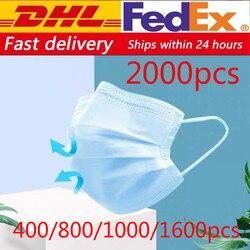 Dhl 500/800/1000/2000 шт одноразовая Защитная маска 3 слоя пылезащитный чехол для лица маски антивирусные маски