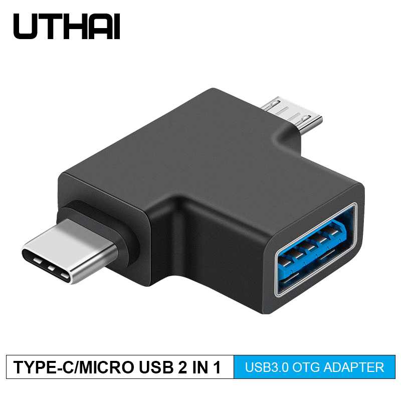 UTHAI J15 Type-C OTG Adapter USB3.0/Type-c/Micro USB 3in1 Converter For Android USBC Connector OTG Muliti Adapters For Mouse OTG