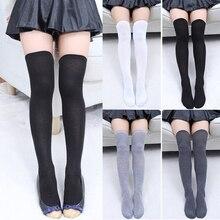 Sexy Women's Stockings Gaiters Striped Long Socks Thigh High Stocking Female Ladies Girls Erotic Warm Over Knee Socks