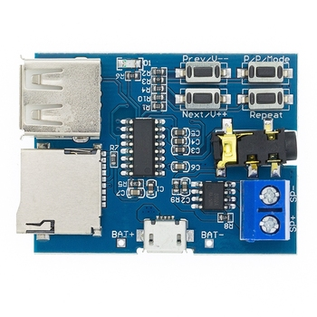 1pcs TF card U disk MP3 Format decoder board module amplifier decoding audio Player decoder board pcm5102 gy pcm5102 i2s interface speaker audio sound card amplifier module dac player for raspberry pi