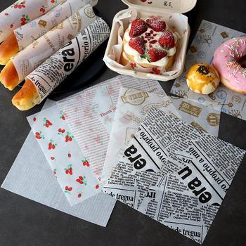 100 sztuk olejoodporny papier woskowany do pakowania żywności papier chleb Sandwich Burger Fries owijanie narzędzia do pieczenia Fast Food chleb olej-papier tanie i dobre opinie CN (pochodzenie) Folia aluminiowa papier olejowy Ekologiczne Narzędzia do pieczenia i cukiernicze 18cm*18cm (20 sheets)