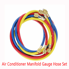 Dragonpad Air Conditioner Manifold Gauge Hose Set 5FT AC Refrigeration Car Accessories