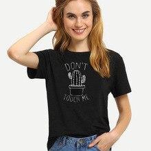 Cactus Printed Women's T-Shirt Harajuku Summer Female Top Tee For Lady