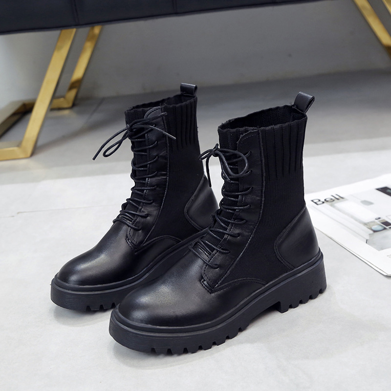 Martin Boots Children 2019 New Style Autumn Autumn England Ventilation Network Red WOMEN'S Shoes Thin Short Boots Short Spring A
