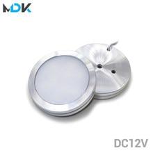 DC12v 3W LED DownLight Unter Schrank Kleiderschrank Schaufenster Lampe mit Draht 3M zurück kleber oder schraube installation Küche dome Licht
