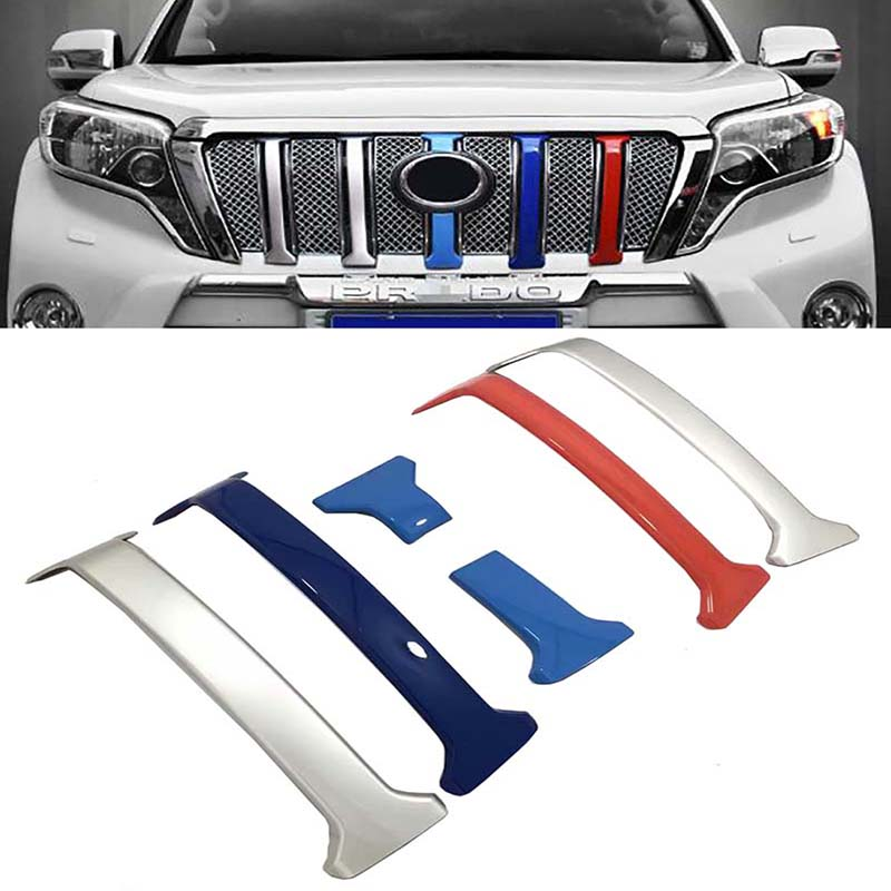 Accessories Front Grille Trims Bumper 3 Color For <font><b>Toyota</b></font> <font><b>Land</b></font> <font><b>Cruiser</b></font> 150 <font><b>Prado</b></font> LC150 <font><b>FJ150</b></font> 2014 2015 2016 2017 2018 Styling image