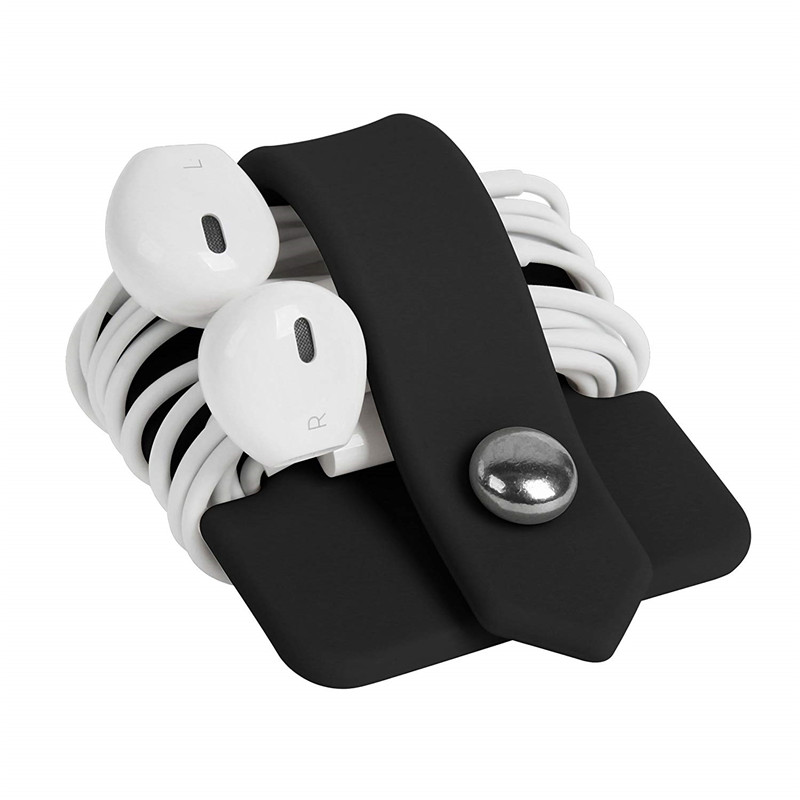 Phone Cable Organizer Good Quality Silicone Wrap Winder Cord   Manager Headset Headphone Earbud Holders Cable Winder