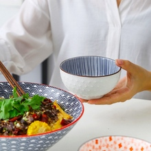 Nordic ceramiczna salaterka śniadanie zboże owoce mała miska deser nakrętka zupa makaron miska do ryżu Hotel kuchenka mikrofalowa zastawa stołowa tanie tanio SumParvenu Pojedyncze bowl122 Miski Zaopatrzony Stałe