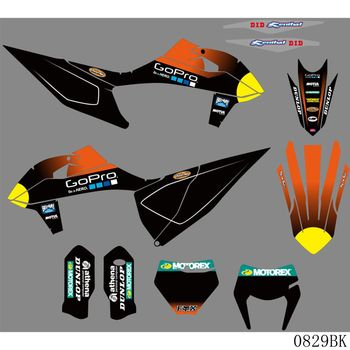 Full Graphics Decals Stickers Motorcycle Background Custom 3M For KTM 125 250 350 450 500 525 SX SXF 2019-2020 EXC XC XCF 2020 motorcycle graphics stickers decals for ktm sxf mxc xc sx exc 125 200 250 300 350 400 450 525 2005 2006 2007
