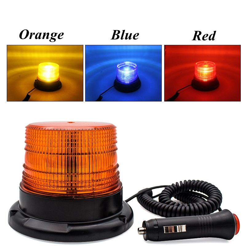 Car Strobe Light Emergency Car Rotating Traffice Indication Car Flash Beacon Light LED Orange Blue Red Flash Car Warning Light