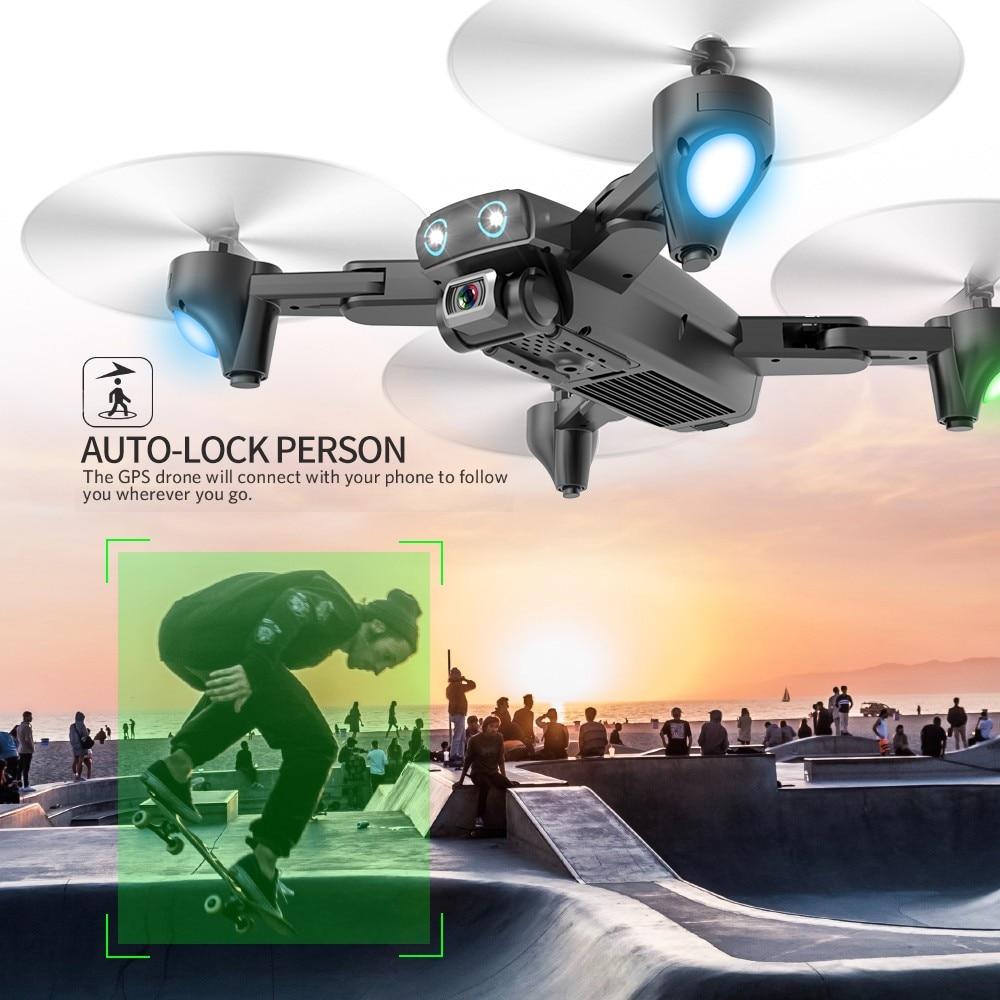 Drone 4k HD caméra GPS Drone 5G WiFi FPV 1080P pas de retour de Signal RC hélicoptère vol 20 Minutes quadrirotor Drone avec caméra - 2