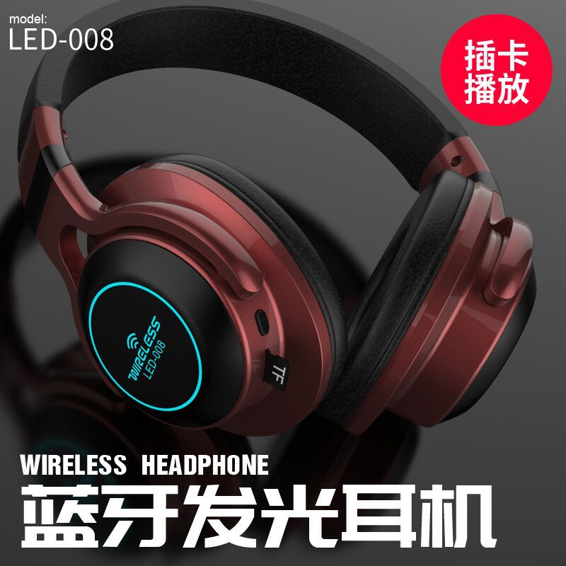 New Wireless Headphones Bluetooth Headset Stereo Headphone <font><b>Gaming</b></font> <font><b>Earphones</b></font> <font><b>With</b></font> <font><b>Microphone</b></font> For PC Mobile phone Mp3 image