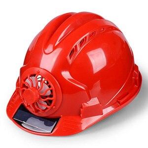 Image 1 - 職場帽子ソーラーパワー調節可能な屋外安全とファンプロテクティブサンスクリーンサイクリング換気セキュリティ建設ヘルメット