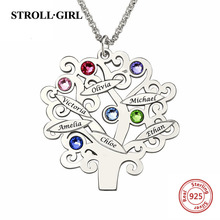 New Arrival 925 Sterling Silver Custom Family Team Tree of Life Name Necklaces Unique Jewelry Vintage Gift for Mothers