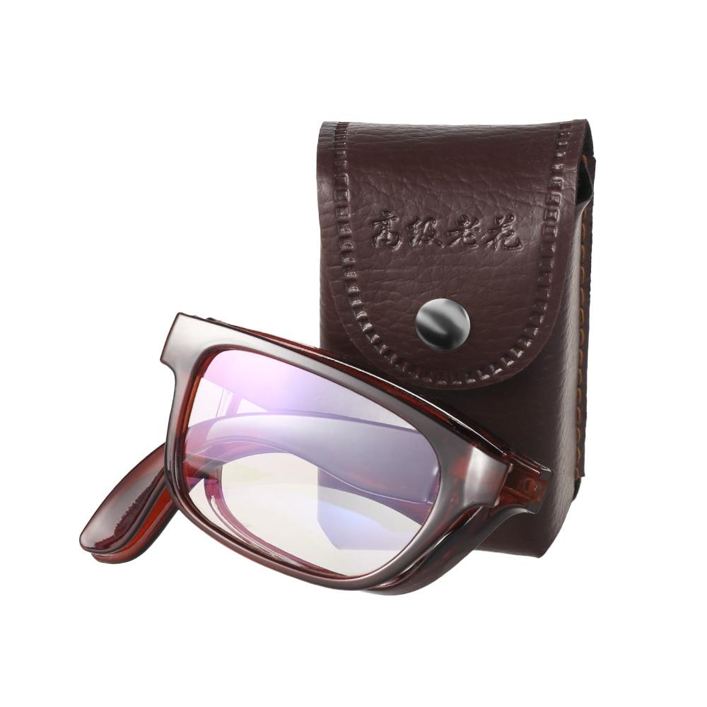 Katlanır okuma gözlüğü gözlük çantası kadın erkek akıllı otomatik odaklama büyütme presbiyopik gözlük gözlük