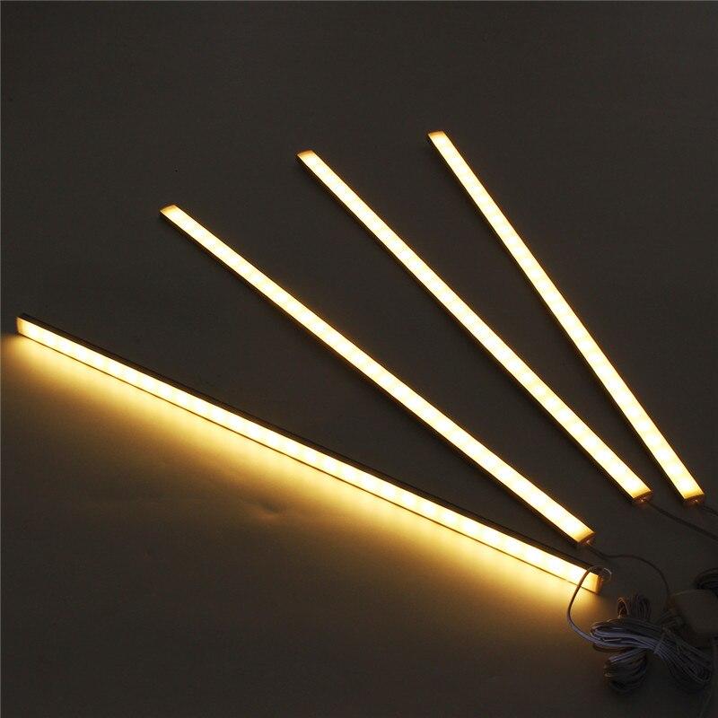 CLAITE 4Pcs 50CM 5730SMD 30 LED Sob Gabinete Light Kit 1000LM 10W LED Strip Luz para Sob A armário da cozinha Lâmpada Gabinete