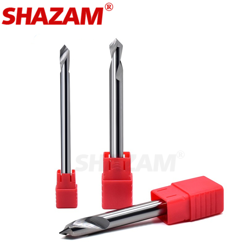 Milling Cutter Alloy Coating Tungsten Steel Tool By Aluminum Cnc Maching 1 Blade Spot Drills SHAZAM Top Chamfered Milling Cutter