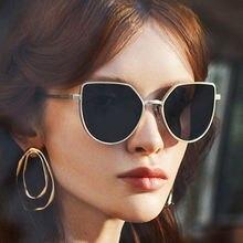 Солнцезащитные очки «кошачий глаз» женские модные брендовые