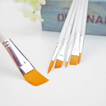 6 Pieces/Set High-quality Smooth Wooden Handle Art Painting Brushes Acrylic Oil Watercolor Artist Paint Brush Soft And Elastic