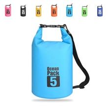 2L/5L Outdoor Portable Rafting Diving Dry Bag Sack PVC Waterproof Folding Swimming Storage  for River Trekking Swim bags