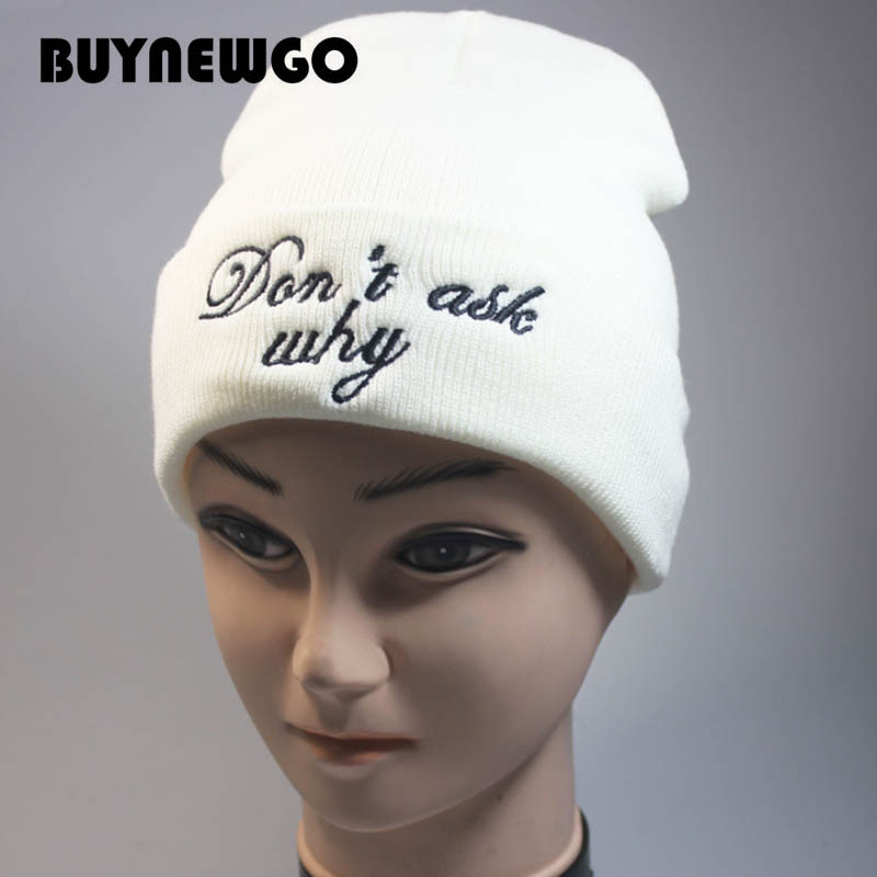 Pullover Cap Knit-Cap Wool-Caps Embroidery High-Quality New Don't Three-Dimensional-Letter