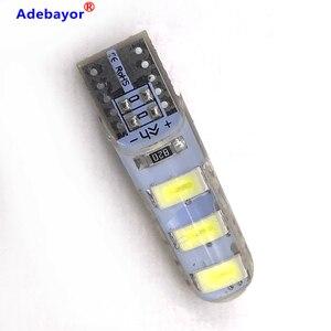 Image 4 - 100pcs סיטונאי T10 סיליקון מקרה 6 SMD 5630 LED רכב כיפת אור W5W 194 6LED 6SMD 5730 LED טריז חניית מנורת הנורה 12V 100X