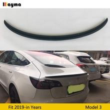 for Tesla Model 3 2017-2019 rear Carbon Fiber rear boot Wing Spoiler Rear trunk Spoiler Wing Trunk Lip Boot Cover Car Styling car rear wing trunk lip spoiler for suzuki vitara 2016 2017 2018 accessories styling