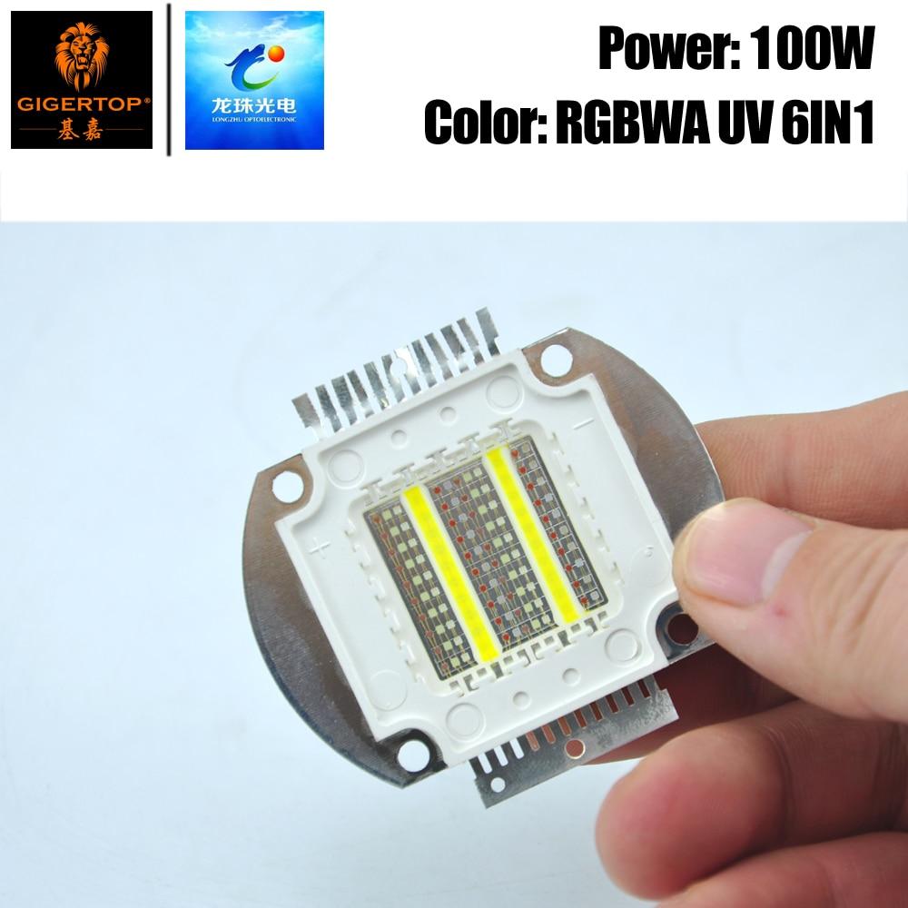 Freeshipping 100W RGBWA UV 6IN1 Color Led Par Light COB Lamp For Leko Light Waterproof Par Light Led Blinder Light 6 Color COB