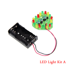 Heart-shaped LED Light Kit LED Heart-shaped Flash Electronic Parts