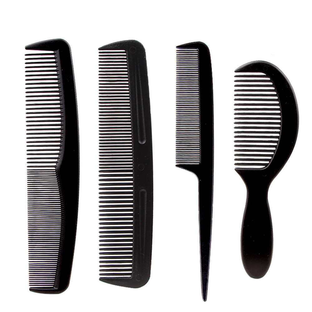 Black Barber Accessories Set Detangling Hair Brush Styling Hot Comb Straightener High Quality Hair Combs Set Brand Concept Store