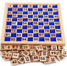 Wooden Toys Montessori Educational 1-100 Consecutive Numbers Game for Kids Learning