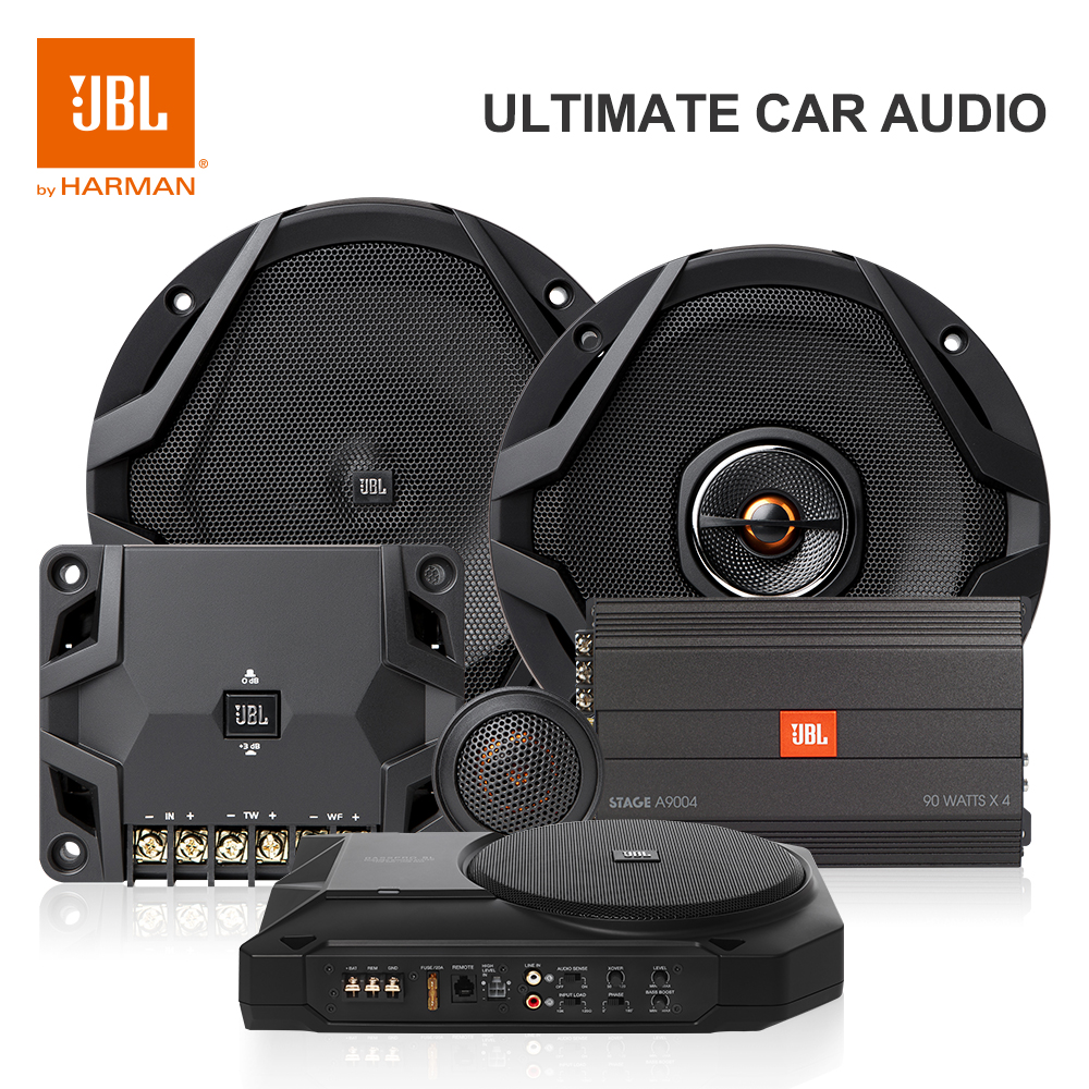 Harman JBL Basspro SL Car Subwoofer Amplifier Built-in Power High And Lower Level Hifi Auto Audio Slim 125W 8