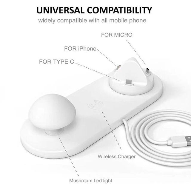 Mobile Phone Charging Station 5 USB Smart Mushroom Look Fast Charging US / EU / UK Plug
