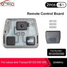 Keyecuリモコンコアボード3ボタン304トヨタとレクサスのためのリモート車のキーなしチップなしシェルp/n: 60120 60030 60040