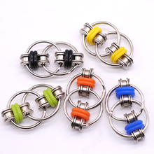 цены 2020 New Key Ring Hand Spinner Tri-Spinner Reduce Stress EDC Fidget Toy For Autism ADHD outdoor tools travel kit