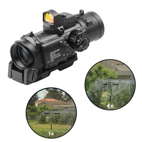 optica rifle scope com mini red dot