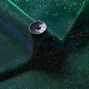 Image 3 - PYJTRL Moda Brilhante Azul Verde Roxo 2 Peças Conjunto Ternos de Casamento Para Os Homens Smoking Do Baile de finalistas Do Partido DJ Cantoras Traje Homme coro
