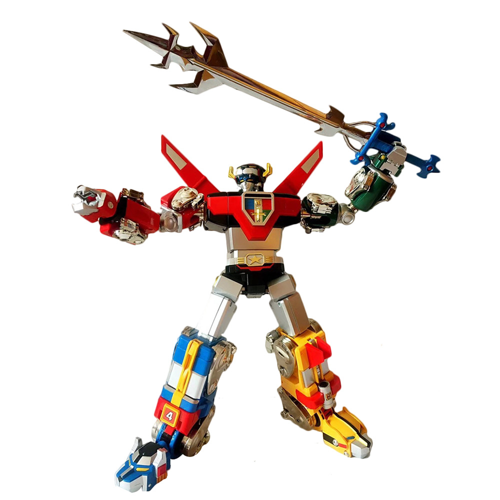 FJ Transformation Action Figure Soul Beast King GoLion Voltron Defender Of The Universe 33cm Alloy Metal KO Robot Toys Figma