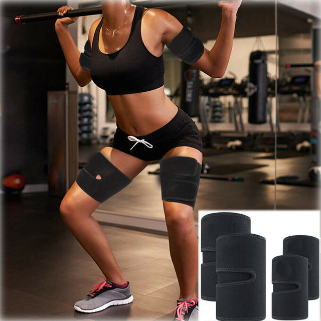 Thigh Arm Trimmers Sauna Sweat Legs Shaper Calories off Warmer Slender Slimming Arms Burn Fat Thermo Neoprene Compress Belt 4