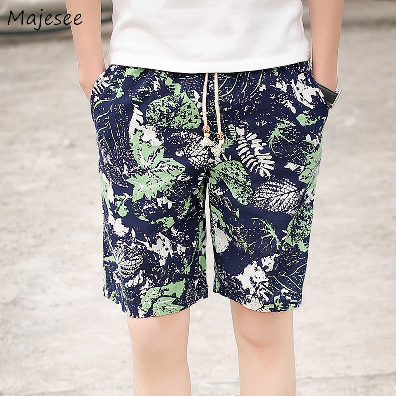 Shorts Men 4XL Printed Drawstring Leisure Pockets Daily Breathable Summer Mens Trendy Thin High Quality Large Size Board Short