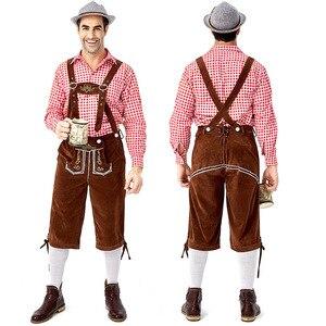 Image 5 - Echoine Trưởng Thành Truyền Thống Oktoberfest Trang Phục Lederhosen Bayern Octoberfest Bia Đức Nam Nữ Carnival Đảng Lạ Mắt Trang Phục