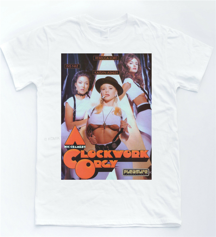 A Clockwork Orange Orgy T Shirt Funny Parody Retro Cult Film Tee Sexy 70'S Movie More Size And Colors Tee Shirt image