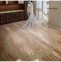 Bride Veil Wedding Accessories Gold Flower Sticky Diamond Mesh Bride Veil New Accessories TS265