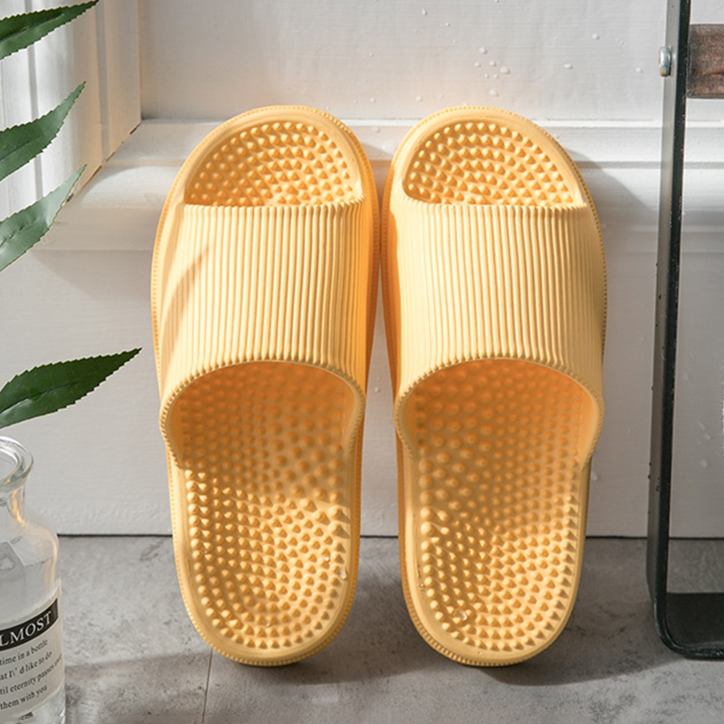 House Bath Massage Women Slippers Soft EVA Non-slip Indoor Solid Slides Ladies Platform Flat Shoes Couple Home Bathroom Slippers
